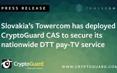 Slovakia's Towercom has deployed CryptoGuard CAS to secure its nationwide DTT pay-TV service